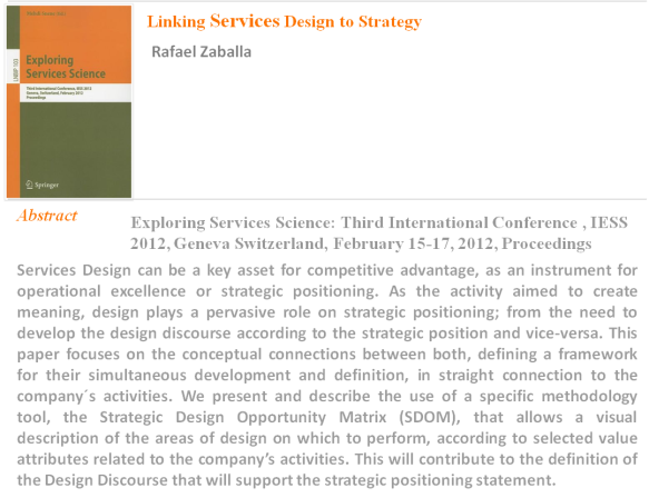 Rafael Zaballa Linking Services Design to Strategy